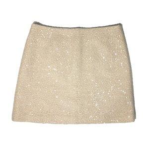 Joe Fresh Knee-Length Wool-Blend Sequin Skirt